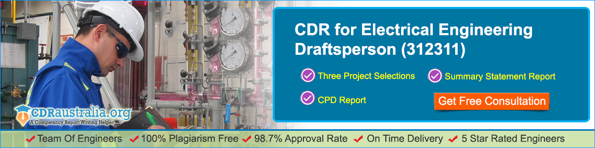 CDR for Electrical Engineering Draftsperson(Anzsco:312311